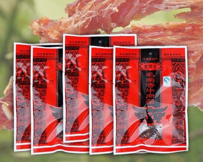 包组合 5 克 55 老谭家毛南香牛肉条