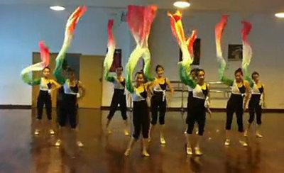 且吟春语 练功水袖古典舞蹈民族舞服装且吟春雨舞台演出练习水袖
