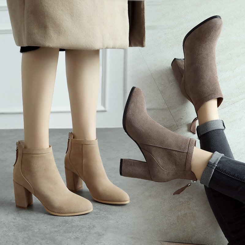 女靴冬小高跟