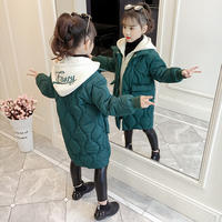Girls cotton clothing 2018 new children's winter coat cotton Korean version of the long section down jacket cotton girl small coat