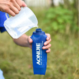 Sports soft kettle plastic soft water bag foldable cross-country running water bag 250/500ML