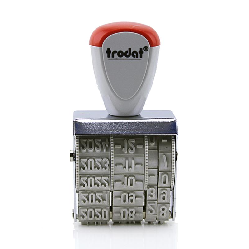 卓达Trodat日期章1010手动可调印章字高4MM中文格式年月日