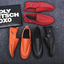 百搭英伦学生潮鞋 驾车豆豆鞋 子韩版 男士 休闲皮鞋 春季社会小伙男鞋