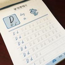 英语描红本26个字母大小写幼儿园小学生作业本一年级单词学前字帖