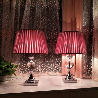 耀马 欧式温馨简约现代浪漫水晶台灯 卧室床头灯结婚创意美式婚房
