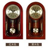 Polaris European mechanical clock clock solid wood retro time clock clock creative living room Chinese clock large pendulum clock