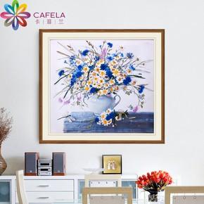 卡菲兰丝带绣新款客厅挂画客厅新手刺绣手工diy材料包欧式立体绣