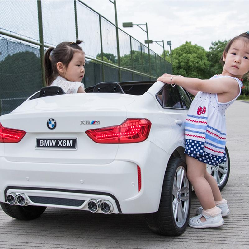 好孩子寶馬雙人坐超大越野兒童電動車四輪遙控汽車男女小孩可坐人