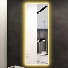 饰带灯智能全身镜 简约现代led穿衣镜壁挂贴墙服装 店试衣镜卧室装图片