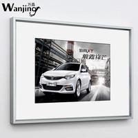 铝合金画框装裱挂墙制度证书框金色卡纸相框 立体相框海报广告框