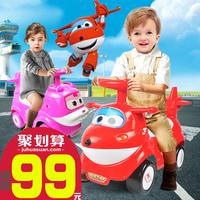奥飞乐迪小爱超级飞侠滑行扭扭车可坐摇摆车助步学步童车1岁玩具