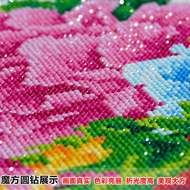 新款5d钻石画满钻卧室爱情砖石秀情侣点贴钻结婚系列十字绣客厅