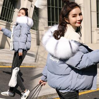 棉服长袖棉袄女装棉衣大码冬季学生加厚保暖韩版冬装通勤外套羽绒