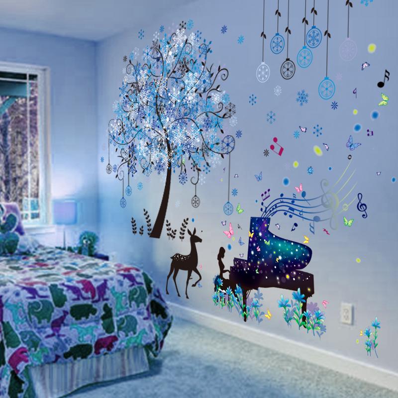3D立体墙贴纸贴画卧室房间墙面装饰壁纸床头海报温馨墙壁自粘墙纸