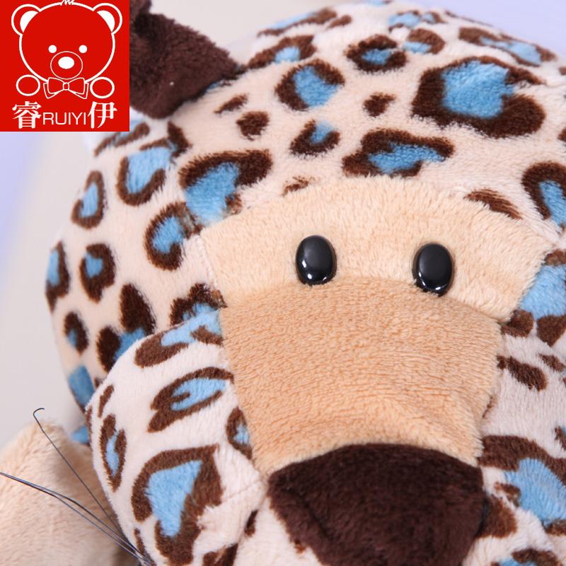 新款套装手偶毛绒玩具动物老虎斑马嘴巴能动讲故事儿童生日礼物