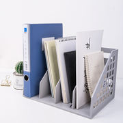 Deli 9840 one-piece file holder Plastic book stand four-column file box file holder Thicken information frame