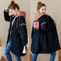 Large size pregnant women cotton Korean loose cotton jacket female long section plus velvet jacket pregnancy warm cotton clothing winter tide