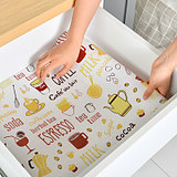 Kitchen drawer pad paper print waterproof non-slip desk pad IKEA cartoon thickenable can be cropped cabinet pad paper