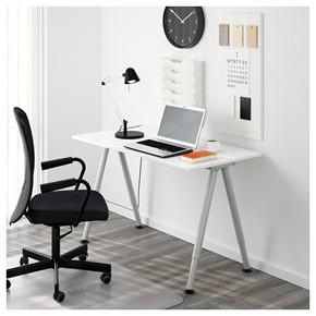 宜家国内代购泰吉家用书桌子经济型电脑办公桌子简约现代25.0