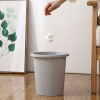 Household simple trash can living room without cover large creative plastic paper 篓 bedroom kitchen bathroom cute small tube