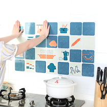 Stove self-adhesive anti-oil sticker tile waterproof hood wall sticker kitchen wall Moisture-proof oil resistant high temperature wallpaper