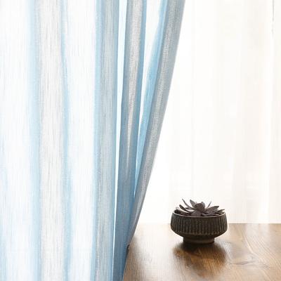 定制客厅素麻复古纯色棉亚麻纱帘柔感美式乡村纯色窗纱窗帘成品哪款好