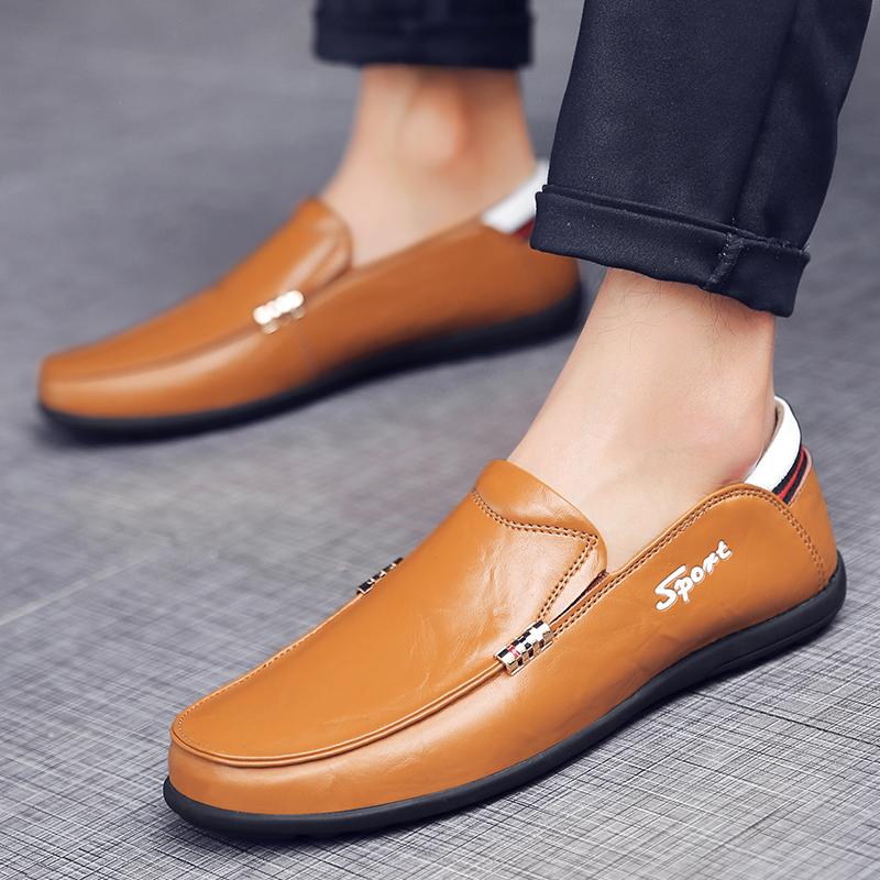 豆豆鞋男黄色