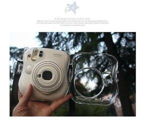 富士拍立得相机壳mini25相机水晶壳保护盒透明壳彩色壳