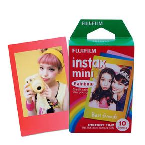 富士 拍立得相纸 胶片mini7smini8 25 50 彩虹 3寸 10张 彩色