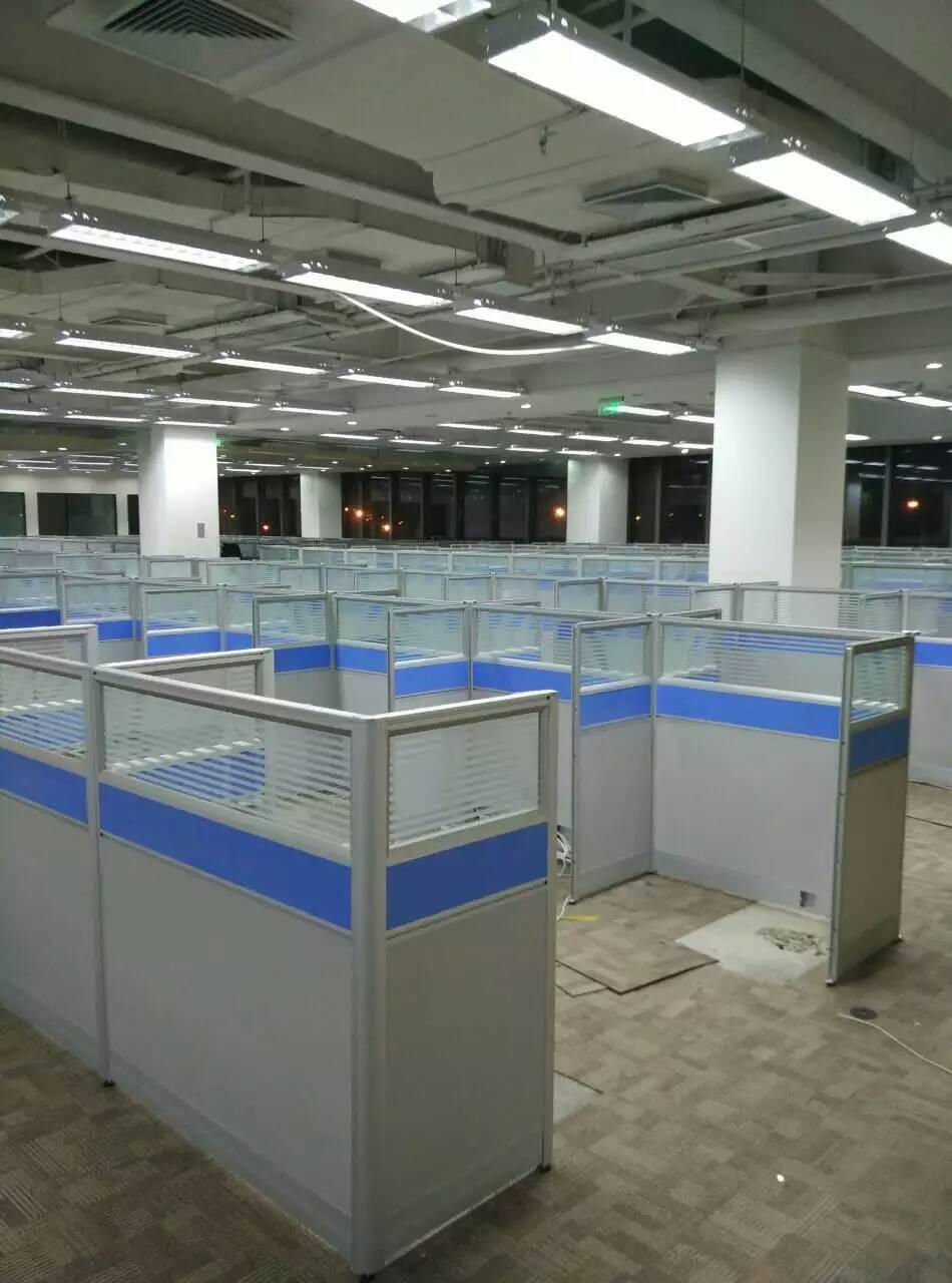 人位定做卡位电脑桌椅 4 北京办公家具办公桌职员工位厂家屏风隔断