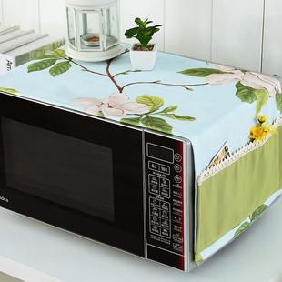新款微波炉罩防油防水防尘罩烤箱罩韩式盖布微波炉套电炉罩子布艺