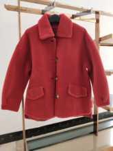 颗粒羊毛大衣