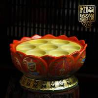 For Buddha supplies Buddha Hall eight auspicious butter lamp seat lotus lamp seven stars candlestick colorful for Buddha lights 2