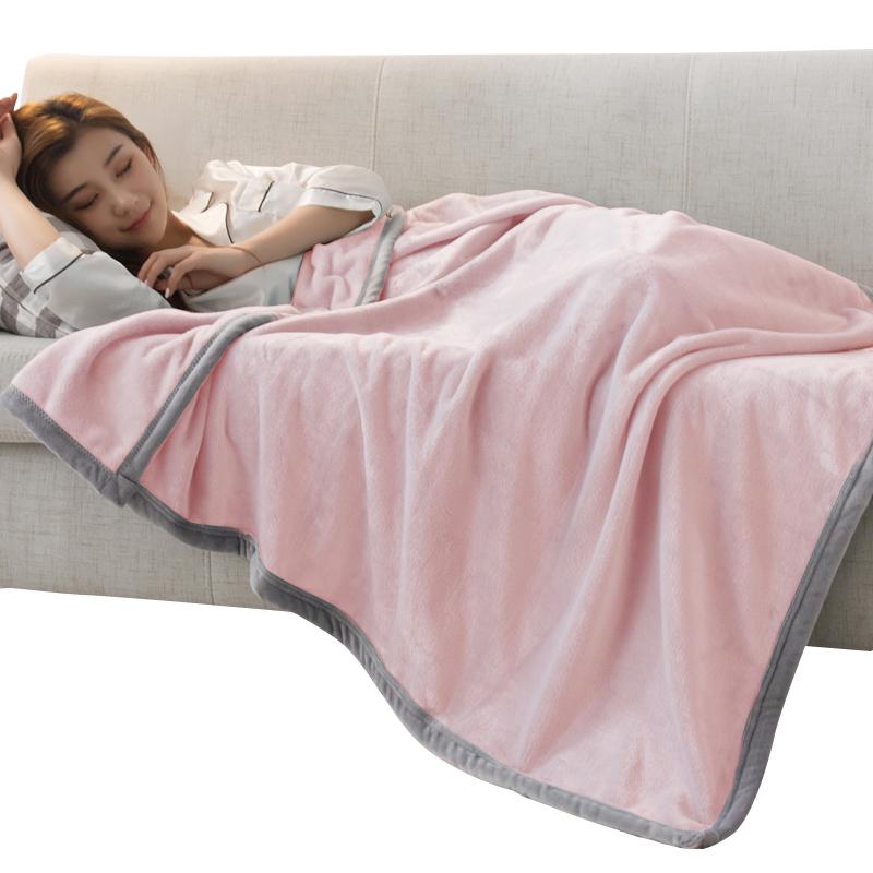 毛毯冬季单人午睡毯加厚珊瑚绒女办公学生宿舍保暖被子盖腿小毯子