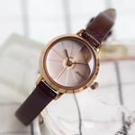 聚利时品牌新款小盘手表复古简约小巧圆表盘学生女表防水腕表