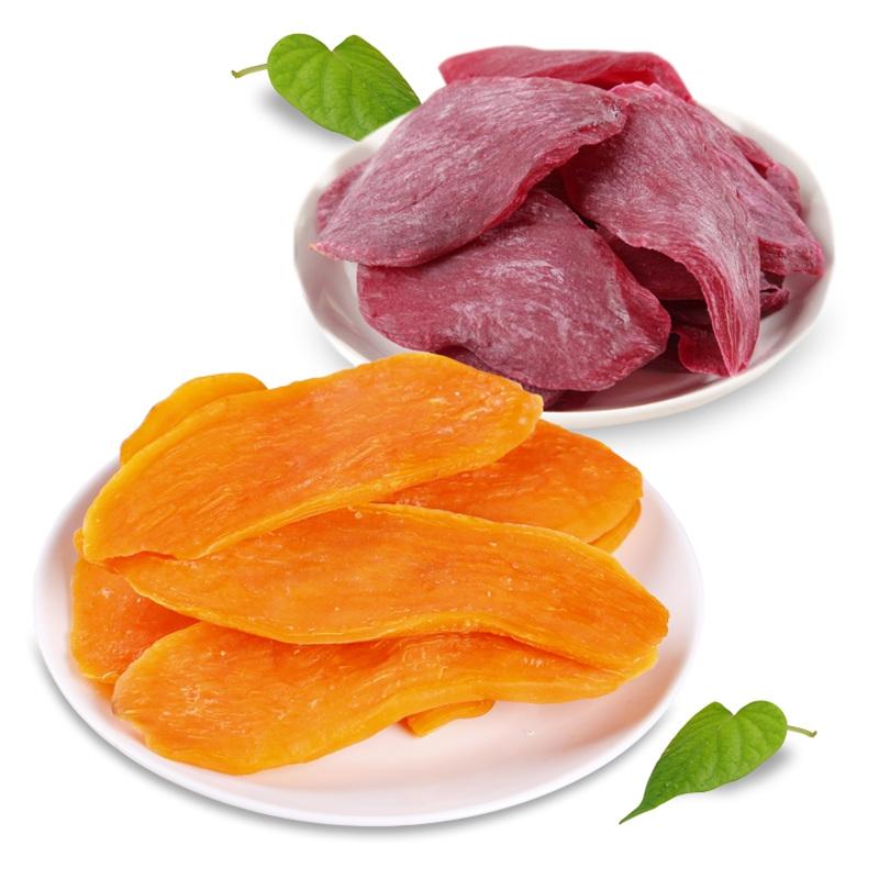 星派红薯干组合紫薯条软自制地瓜干软糯香脆番薯片零食农家山芋脆