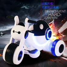 新款1-3-5岁儿童电动车炫酷摩托车三轮车多功能可坐玩具童车 包邮