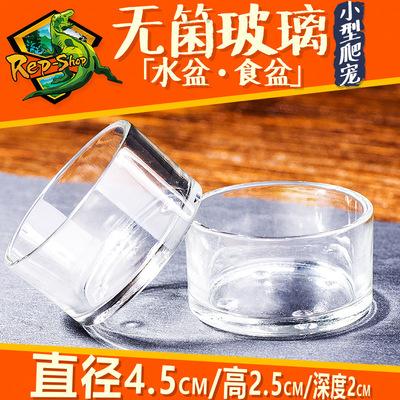 爬虫玻璃水盆高品质无菌食盆爬宠蜥蜴守宫陆龟蛇蜘蛛蝎子活食水碗