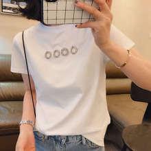Spring and Summer 2019 Women's Wear New Style Korean Version Loose INS Fashion Top Care Machine Overfire Cec Short Sleeve T-shirt
