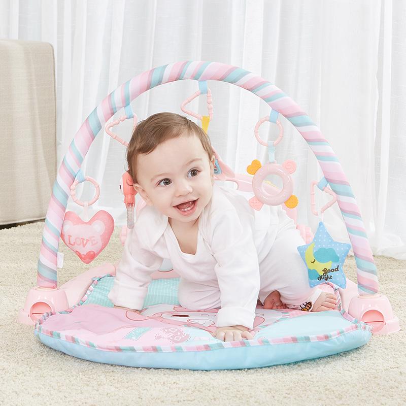 顽美婴儿脚踏钢琴早教健身架0-6-12个月男女孩通用宝宝音乐健身器