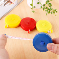 Household automatic shrink type mini tape measure 1.5 meters plastic measurement three circumference height tape measure clothing ruler small tape