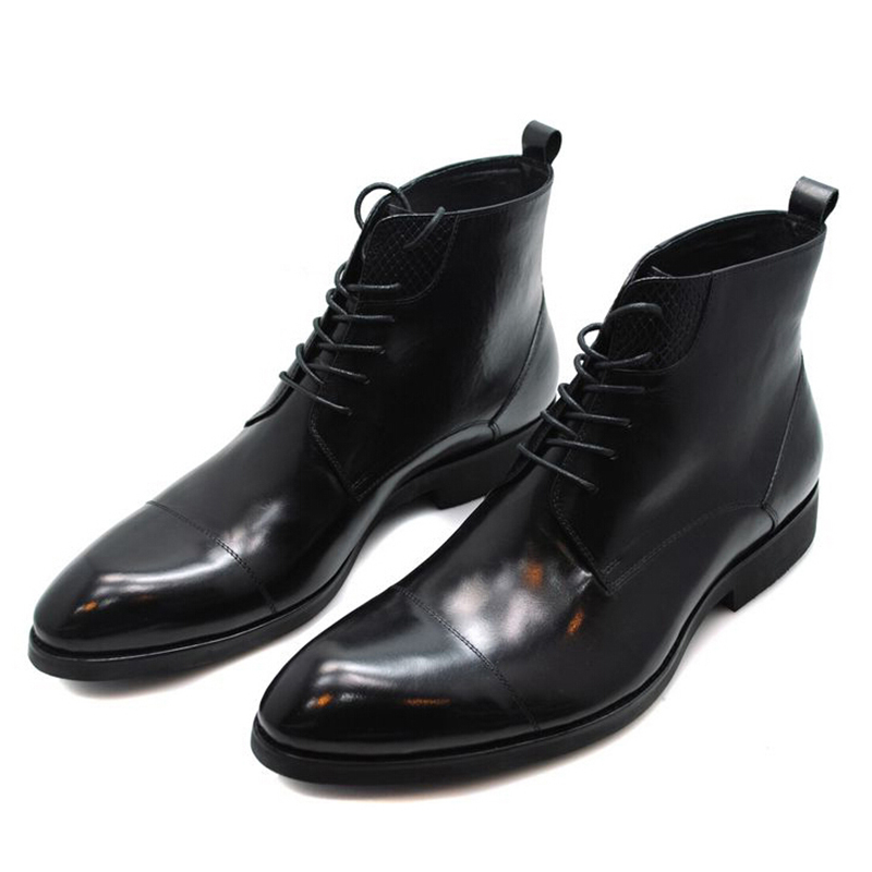 头层正装皮靴