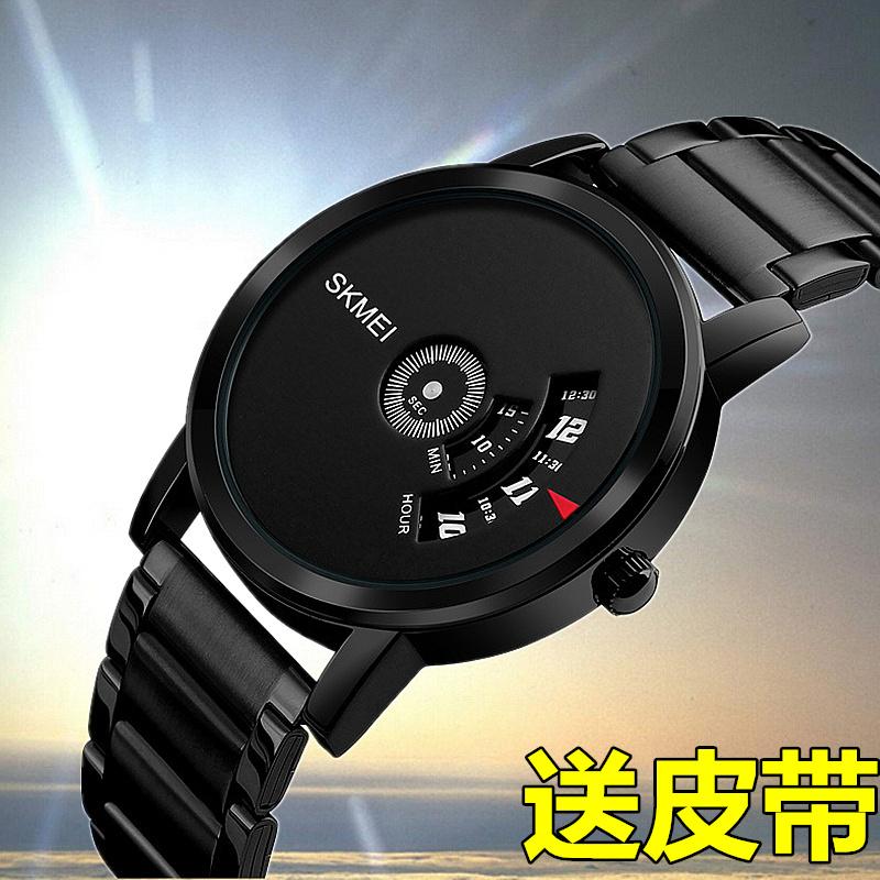 男士 黑钢 手表