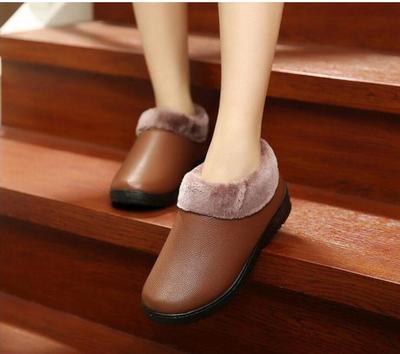 冬季新款老北京布鞋女软底防滑居家棉鞋平底妈妈奶奶鞋大棉保暖鞋