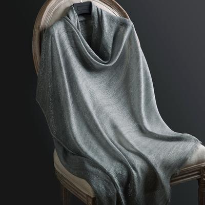 牛货真丝围巾披肩女春夏秋冬季 薄款超大银丝莫代尔纯色灰色丝巾