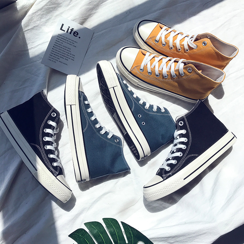 青年学生帆布鞋