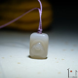 Live Park - Hetian jade pendant Maitreya powder small brand 藕 powder Maitreya grandfather must be scheduled October 10-15 delivery