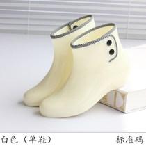 新品水鞋塑料鞋套休闲水桶鞋套鞋雨鞋40码女士冬天女款透明加厚时