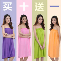 Beauty salon special tube top customer pajamas cotton bath skirt bath towel bathrobes women sauna steaming clothes wrapped chest