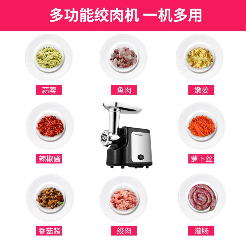 Tenfly家用电动绞肉机多功能碎肉机绞馅搅肉香肠灌肠机小型商用I